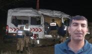 Sağlık ve askeri personeli taşıyan minibüs şarampole devrildi!