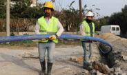 Samandağ İçmesuyu Şebeke İnşaatı' çalışmaları sürüyor