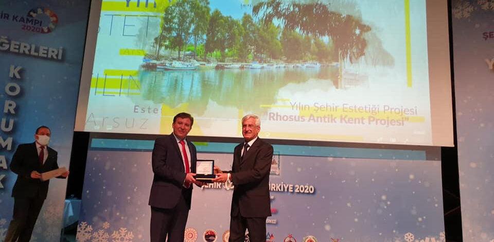 Arsuz'a 'Yılın Şehir Estetiği Projesi' ödülü verildi