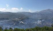 Sınırdaki yangın kontrol altına alındı