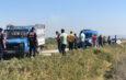Sulama kanalına düşen kamyonetteki 4 işçi yaralandı