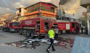Polyester imalathanesinde çıkan yangın söndürüldü