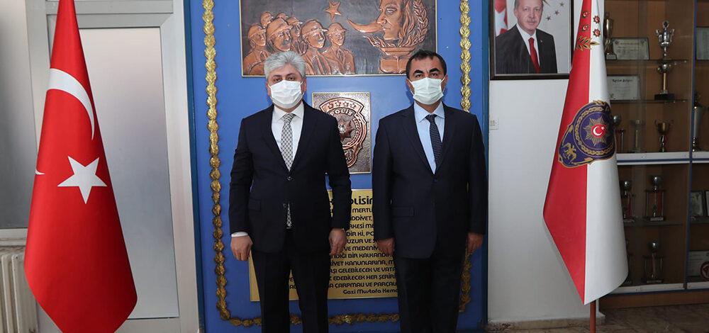 Vali Doğan'dan, İl Emniyet Müdürü Arıbaş'a iade-i ziyaret